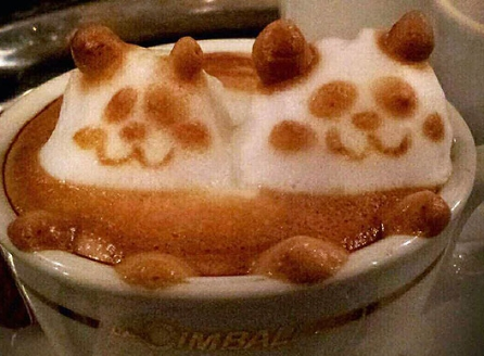 Cappuccino Schaum 3d